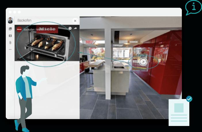 Beispiel für einen Infospot in der virtuellen Tour