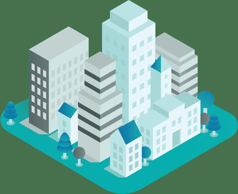 Grafik Stadt im Comic Stil