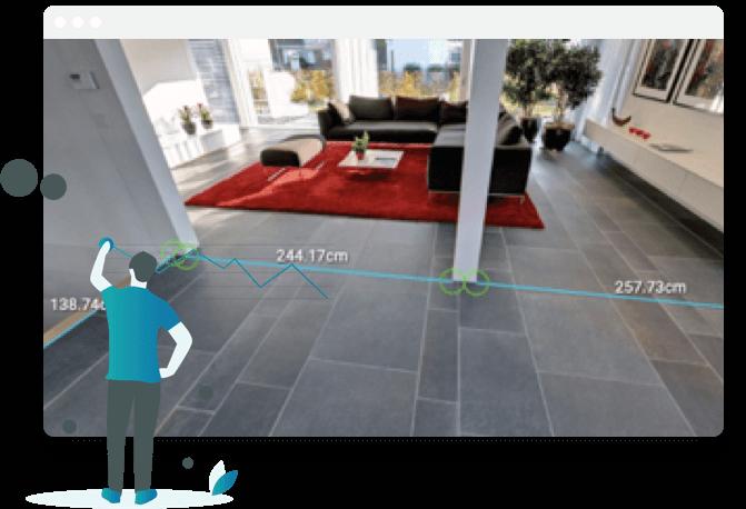Mit Ogulo können Sie Ihren Interessenten in den virtuellen Rundgängen unser Vermessungstool zur Verfügung stellen