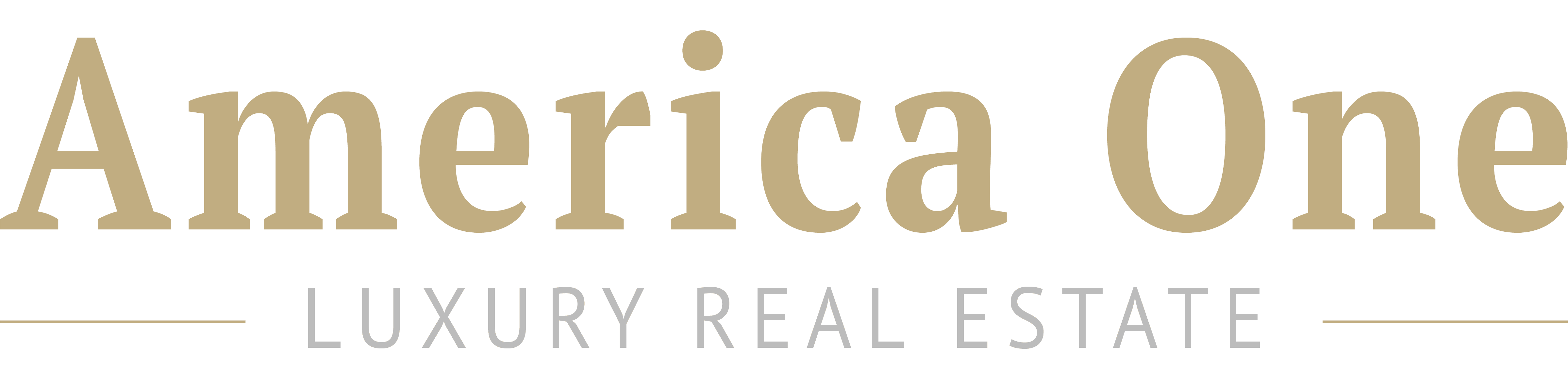 Logo America One - Luxury Real Estate